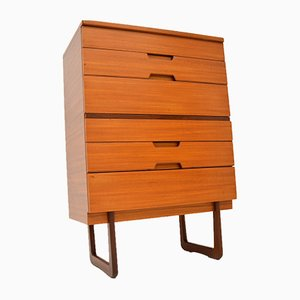 Mid-Century Walnut Chest of Drawers by Gunther Hoffstead for Uniflex, 1950s