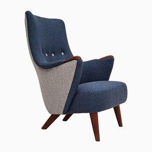 Danish Wool Armchair from Nevotex, 1960s