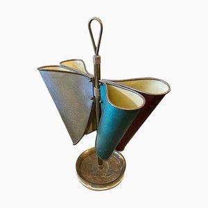 Italian Mid-Century Modern Brass Umbrella Stand, 1950s