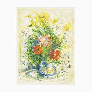 Naturaleza muerta floral de Ira Moskowitz, 1967
