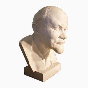 Antique Plaster Lenin Bust