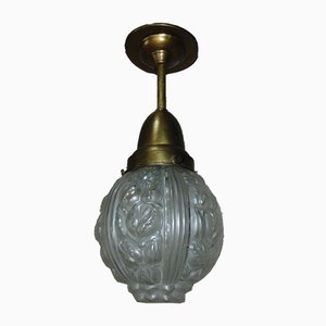 Antique Pre-War Brass Ceiling Lamp