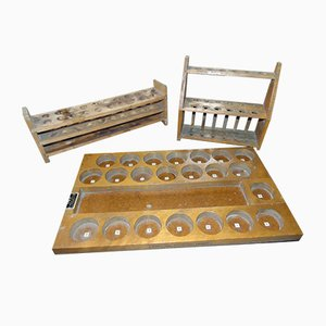 Industrial Wooden 3-Piece Teaching Aid, 1970s, Set of 3