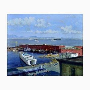 Renato Criscuolo, Beverello, Öl auf Leinwand