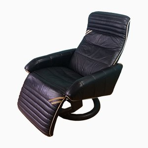 Danishing Leather Reclining Lounge Chair from Bramin, 1960s