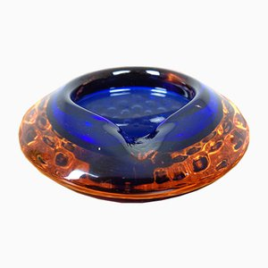 Cuenco italiano de cristal de Murano, años 60