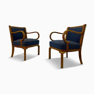 Danish Armchairs from Lysberg and Hansen, 1930s, Set of 2