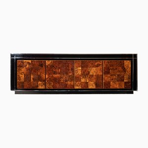 Steel & Wood Sideboard by Willy Rizzo for Mario Sabot, 1970s