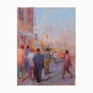 Renato Criscuolo, Piazza Del Plebiscito, Öl auf Leinwand