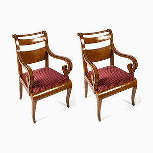 Maple Lounge Chairs,1800s, Set of 2