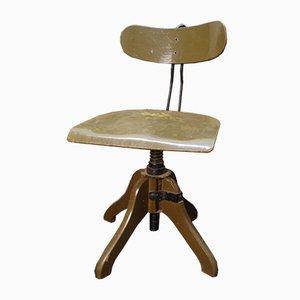Silla de escritorio giratoria industrial vintage, años 40
