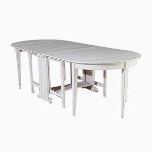 Gustavianischer Esstisch & Stühle, 3er Set