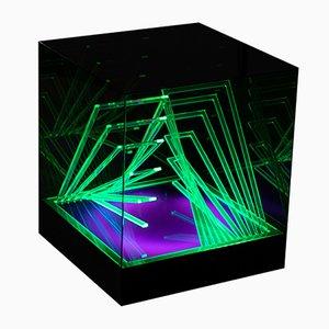 Kinetische Lampe von Cubo di Teo von James Riviere, 1970er