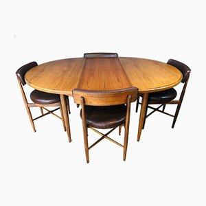 Mid-Century Esstisch & Stühle von VB Wilkins für G Plan, 1960er, 5er Set