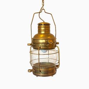 Mid-Century Bronze & Brass Naval Lantern, 1960s