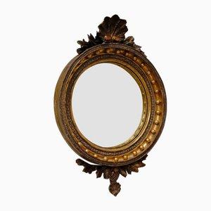 Espejo Regency Regency de madera dorada