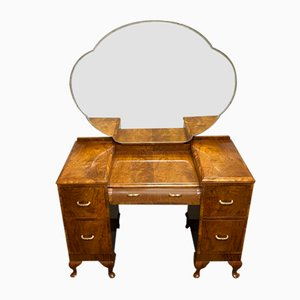 Art Deco Burr Walnut Dressing Table, 1930s