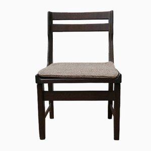 Chaises de Salon Mid-Century en Chêne Noirci par Guillerme et Chambron, Set de 9