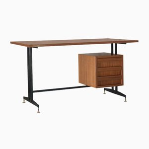 Scandinavian Mahogany Desk, 1950s