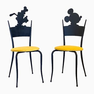 Vintage Mickey & Pluto Childrens Chairs, 1980s, Set of 2