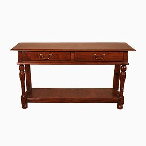 Antique English 2-Tier Console Table or Sideboard, 1800s