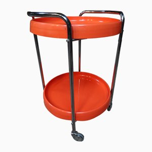Retro Orange Chrome Trolley, 1960s