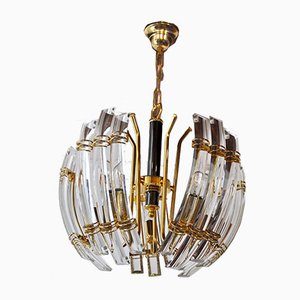 Italian Murano Glass 5-Arm Chandelier from Venini, 1970s
