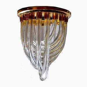 Lampada da soffitto in intonaco e vetro curvo di Paolo Venini, Italia, anni '70