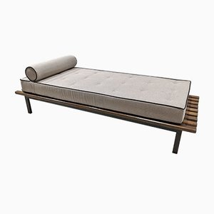 Cansado Bench with Gray Mattress & Cushion by Charlotte Perriand for Steph Simon, 1954