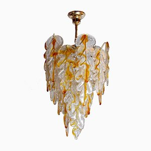 Italian Murano Glass Chandelier by Carlo Nason for Mazzega, 1970s