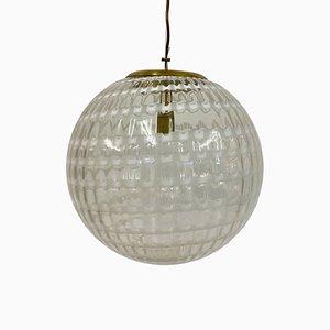 Lampe à Suspension Globe en Verre de Murano, 1970s
