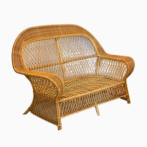 Bamboo and Wicker Sofa from Gervasoni, 1990s