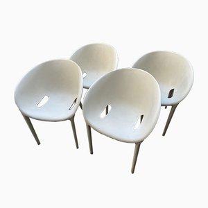 Sillas auxiliares contemporáneas Soft Egg de Philippe Starck para Driade, 2005. Juego de 4