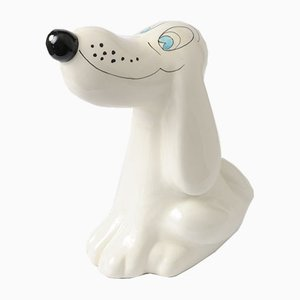 Italian Ceramic Dog Money Box from Il Quadrifoglio, 1960s