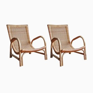 Vintage Rattan Lounge Chairs from Arco, Set of 2