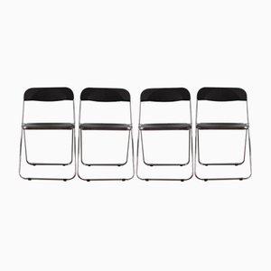 Chaises Pliables Vintage par Giancarlo Piretti pour Castelli / Anonima Castelli, Set de 4