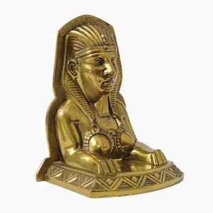 Art Deco Brass Sphinx Bookend, 1920s