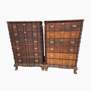 Large Dutch Chest of Drawers, 1930s, Set of 2