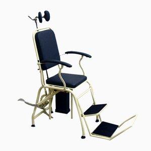 Italian Metal Adjustable Dentist's Chair, 1940s
