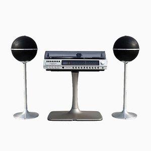 Equipo de música RPC 200 Super HiFi de Grundig con altavoces Audiorama 4000, años 70