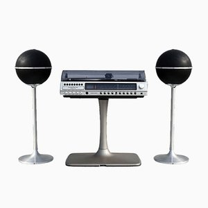 Système HiFi HiFi RPC 200 de Grundig avec Haut-Parleurs Audiorama 4000, 1970s