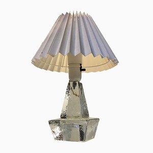 Schwedische Tischlampe aus Milchglas von Ateljé Engberg, 1970er