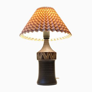 Scandinavian Ceramic Table Lamp, 1970s