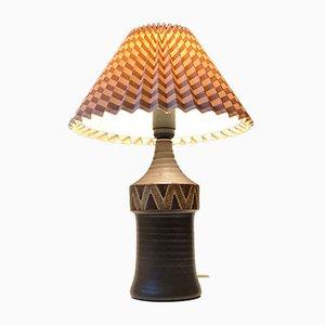 Skandinavische Keramik Tischlampe, 1970er