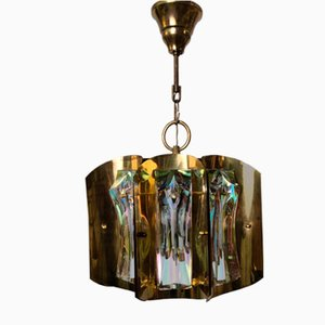 Iridescent Murano Glass Pendant Lamp by Paolo Venini, 1960s