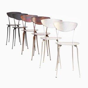 Aluminium Esszimmerstühle von Arper, 1980er, 6er Set