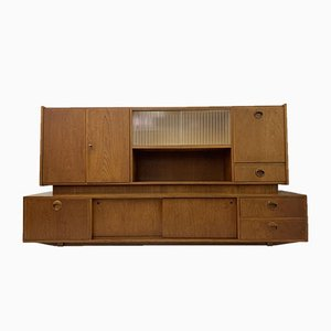 Mid-Century Large Teak Wall Unit, 1950s