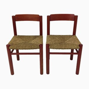 Stühle aus Korbgeflecht, 1970er, 2er Set