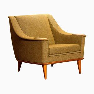 Oak Green Lounge Chair by Folke Ohlsson for DUX, Sweden, 1960s