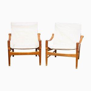 Safari Chairs by by Hans Olsen for Viska Möbler, Sweden, 1960s, Set of 2